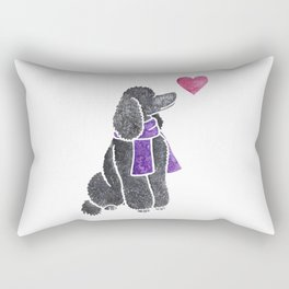 Watercolour Standard Poodle Rectangular Pillow