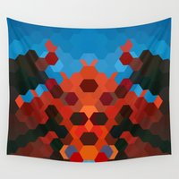 crab Wall Tapestries featuring CRAB by ED design for fun