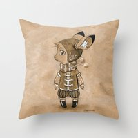 mouse Throw Pillows featuring Mouse by Freeminds