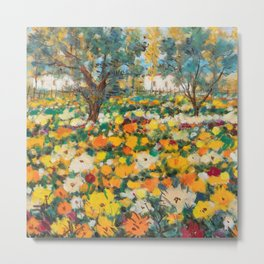 'The Wildflowers of Spring' landscape painting by Michael Cascella Metal Print