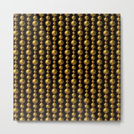 Bead Pattern, Gold & Black Metal Print