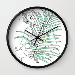 Angel Among Nature Wall Clock