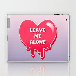 pastel melty heart leave me alone Laptop & iPad Skin