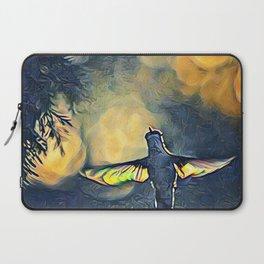 Golden Blue Hummingbird by CheyAnne Sexton Laptop Sleeve