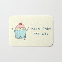 Make Cake Not War Bath Mat