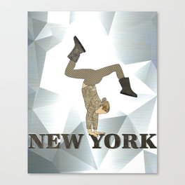 Gymnastics New York Canvas Print