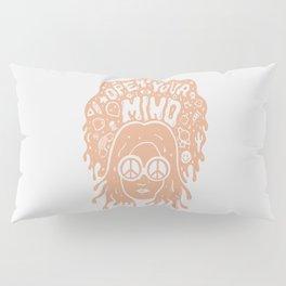 Open Your Mind in orange Pillow Sham