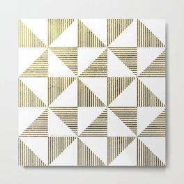 GOLD GEOMETRIC PILLOW Metal Print