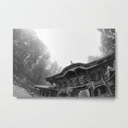 Temple in the Mist Metal Print