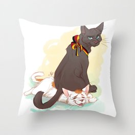 Germouser and Itabby Throw Pillow