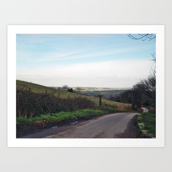 Approaching North Rigton Art Print