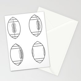American Football Ball Spinning Sequence Drawing Stationery Cards