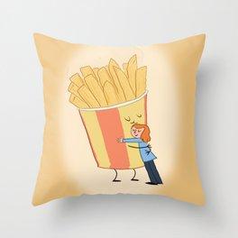 Hot Chips! Throw Pillow