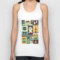 risa rodil Tank Tops featuring Empty Hearse by Risa Rodil