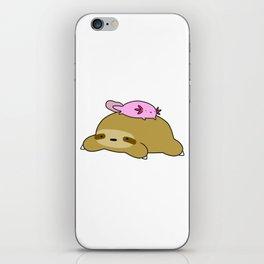 Axolotl and Sloth iPhone Skin