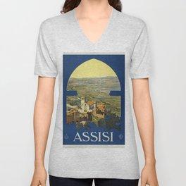Vintage poster - Assisi Unisex V-Neck