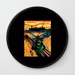 Slimers Scream Wall Clock