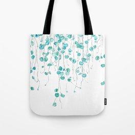string of hearts watercolor Tote Bag