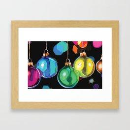 Christmas Ornaments Framed Art Print
