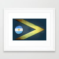 argentina Framed Art Prints featuring Argentina by ilustrarte