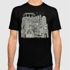 dystopian toile mono Mens Fitted Tee MEDIUM Black