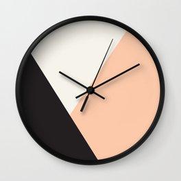 Getting Blocky Dark Wall Clock