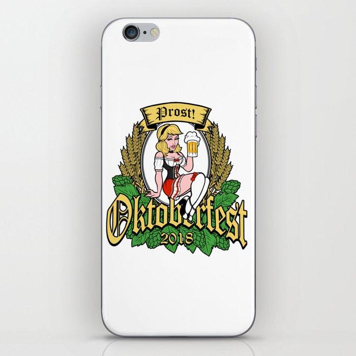 Oktoberfest 2018 German Pin Up Girl Prost iPhone Skin