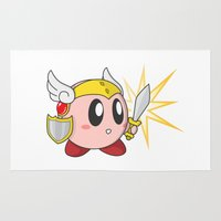 kirby Area & Throw Rugs featuring Valkyrie Kirby by Mel W.