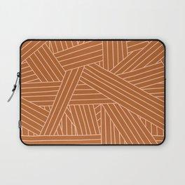 Crossing Lines in Brown + Blush Pink Laptop Sleeve