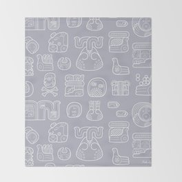 Picto-glyphs Story Throw Blanket
