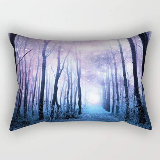 Fantasy Forest Path Rectangular Pillow