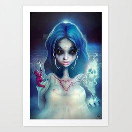 2012 Horror Girl Art Print