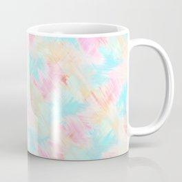 Modern Girly Pink Yellow Blue Paint Daub Art Coffee Mug