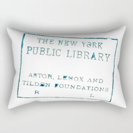 New York Public Library stamp Rectangular Pillow