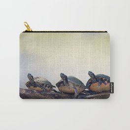 Three Florida  Turtles Sunning On A Log Carry-All Pouch
