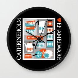 Cathrineholm Retro Kitchen Enamelware Wall Clock