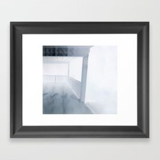 White World Framed Art Print
