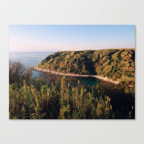 Late colors of island Canvas Print