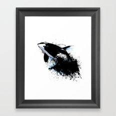 Oil escape Framed Art Print