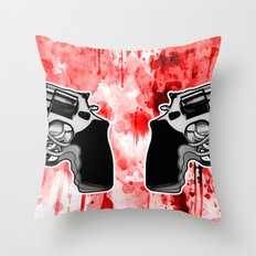 Double Triple (revolver) Throw Pillow