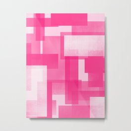 Modern Abstract No. 23 | Fucshia Metal Print