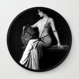Ziegfeld Follies Girl Wall Clock