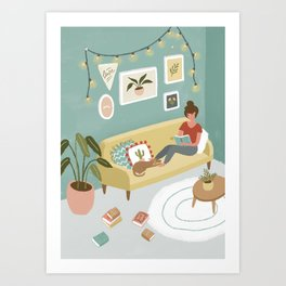 Reading Moment Art Print