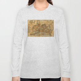 Llyod's Official Map of Virginia (1861) Long Sleeve T-shirt