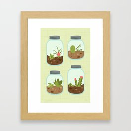 Terrariums Framed Art Print