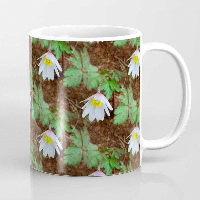 Diagonal rows of nodding flowers Coffee Mug