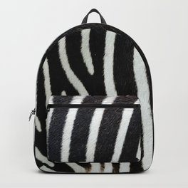 Zebra skin close-up view luxury abstract pattern Backpack