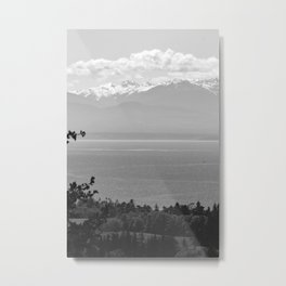 Mountain Views at Deception Pass State Park Metal Print