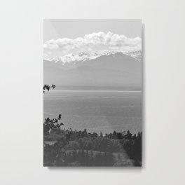 Mountain Views at Deception Pass State Park Metal Print