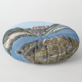 Newport Cliff Walk - Newport Rhode Island by Jeanpaul Ferro Floor Pillow